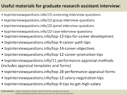 top graduate research assistant interview questions and answers interview questions and answers previous