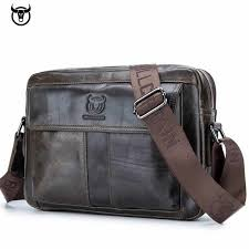 fashion <b>Genuine leather</b> men's Briefcase vintage <b>cow</b> leather ...