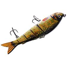 5 Jointed Sections Multi-jointed Fishing Lure Hard Plastic Bait with ...