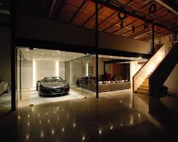 amazing car showroom design with living room awesome garage design the car cave night view amazing home design gallery