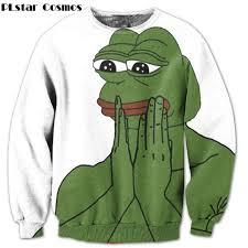 PLstar Cosmos Funny Sad Pepe The Frog printing 3d <b>Sweatshirts</b> ...