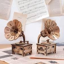 <b>Creative Gramophone Musical Boxes</b> DIY Wooden Music Box Wood ...