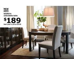 dining table that seats 10: ikea products at a new lower price bjursta extendable table now  last years price