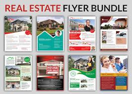 real estate flyer bundle templates flyer templates on creative  real estate flyer bundle templates