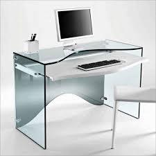 alluring computer desk design with black black glass office desk