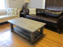 rustic coffee table build build living room furniture