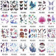 <b>1 Sheet</b> Glitter colorful Flash Body Tattoo <b>Waterproof</b> Sticker Cartoon ...