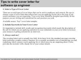 software qa engineer cover letter      tips to write cover letter for software qa engineer