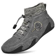 <b>SENBAO Men Boots Fall</b> Winter Mid-Top Trend Socks Shoes ...