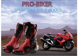 NEW Motorcycle <b>Men's</b> Racing boots <b>Four Seasons Professional</b> ...