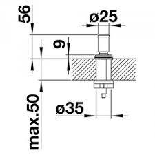 <b>Ручка клапана-автомата Blanco Livia</b> хром (521294) для кухни ...
