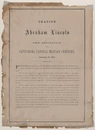 facsimile of gettysburg address in lincoln s hand on an envelope oration of abraham lincoln at the dedication of the gettysburg national military cemetery