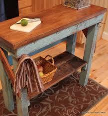 rustic kitchen island: