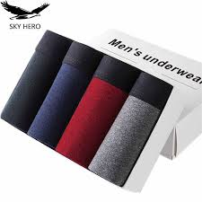 <b>4pcs</b>/<b>lot</b> SKYHERO Male Panties <b>Cotton</b> Men's Underwear Boxers ...