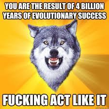 Courage Wolf memes | quickmeme via Relatably.com