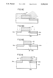 patent us5258319 method of manufacturing a mos type field effect patent drawing