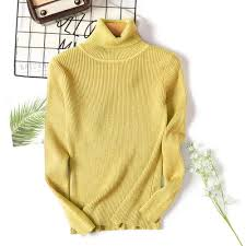 Winter Women Knitted Turtleneck Sweater Casual Soft Polo ... - Vova