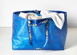 Image result for person carrying ikea bag