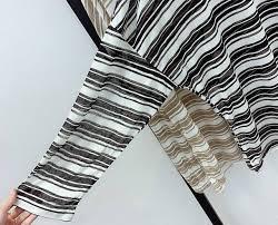 Fat Mm Stripes Slimming Sun-resistant T-shirt Female <b>Autumn Large</b> ...