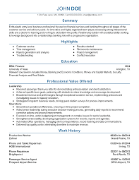 sample resume career advisor resume for cover letter investment resume templates entry level financial associate