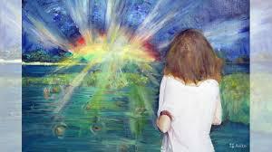 <b>Картина</b> маслом Девушка Восход Солнце Свет <b>40/30 см</b> купить в ...