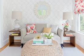 a small living room especially if its short on windows can feel a bit boxed in create a focal point boost light and add depth all at once big furniture small living room