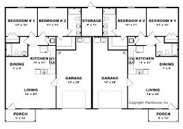 Bedroom duplex plan   Garage per unit   J   d  Floor plan  J   d  Ad copy jpg