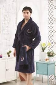Купить <b>Мужской халат KARNA</b>, MARINE, L, с полотенцем, синий ...