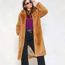2019 <b>Plush Coat Women</b> Fur Lamb Thicken <b>Winter</b> Warm Long ...