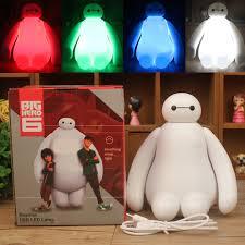RGB Dimmable <b>Creative</b> New Big Hero Cute Cartoon Baymax <b>LED</b> ...