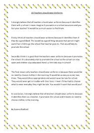 teachers should wear uniforms barrington public school evaena radford