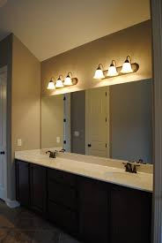 bathroom place vanity contemporary: brown bar bathroom modern vanity mirror