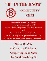 bellevue school district community chat flyer