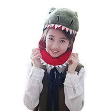 yqtyqs T-Rex <b>Hat</b> Dinosaur Caps Mask Animal <b>Halloween Party</b>