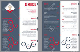 two sided resume curriculum vitae cv design template royalty two sided resume curriculum vitae cv design template stock vector 41599276
