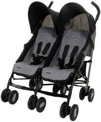 <b>Коляска</b> для двойни <b>Chicco Echo Twin Stroller</b>, Coal — купить в ...