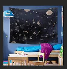 LOMOHOO Mandala Tapestry Wall Hanging <b>Moon Starry Sky</b> Night ...
