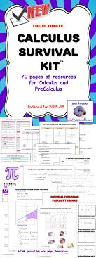 best ideas about precalculus algebra algebra calculus survival kit over 70 pages references for calculus and precalc