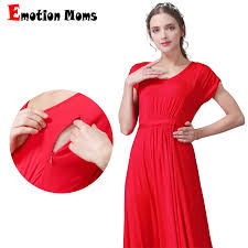 <b>Emotion Moms long</b> Maternity Nursing Dress for pregnant <b>women</b> ...
