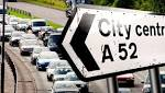 Recap: Car in ditch on the A52 causing serious delays