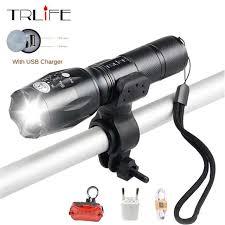Online Shop <b>USB Flashlight 8000</b> lums <b>LED</b> T6 L2 <b>Torch</b> Bicycle ...
