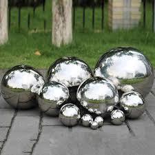<b>High Gloss Glitter</b> Stainless Steel Ball Sphere Mirror Hollow Ball For ...