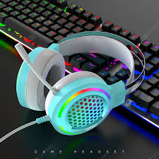 Gaming Headset RGB Lighting Professional Gaming Headset <b>Head</b> ...