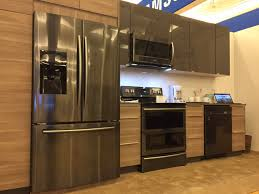 black and stainless kitchen blackstainless samsungkitchen lg black stainless appliances