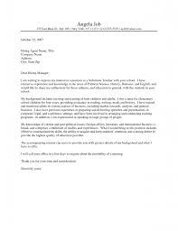 good examples of cover letters informatin for letter sample teaching cover letter experience resumes
