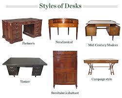 common styles of antique desks amazing vintage desks