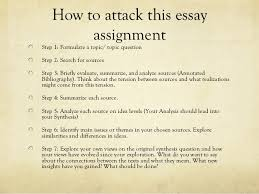 synthesis essay presentation