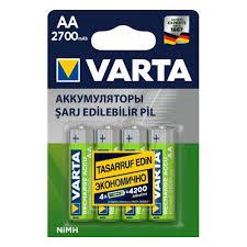 Аккумулятор <b>VARTA</b> LR6 <b>AA</b> 2700 mAh (уп 4 шт) — купить в ...