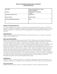 professional resumes cashier job duties com head cashier job description resume resume cashier duties