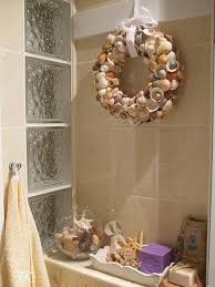 beach themed bathroom accessories idea:  modern bathroom design and decorating ideas incorporating sea shell art and crafts